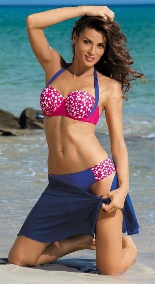 Modro-růžové plavky se zavazováním za krkem Marko Ellen Fresia