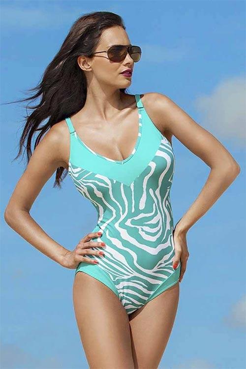 Luxusní dámské jednodílné XXXL plavky