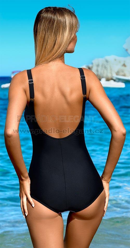 Černé jednodílné plavky pro baculky
