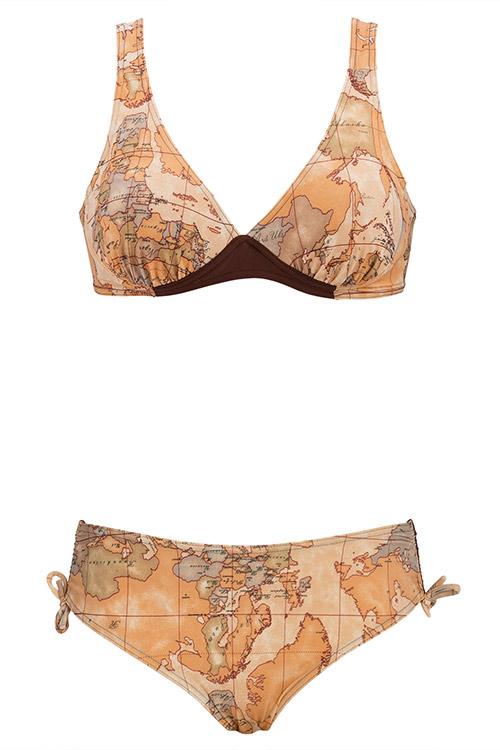 Dvoudílné plavky pro plnoštíhlé Madora Mapa