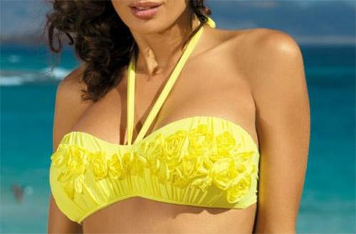 Žluté dámské plavky Marko Virginia M-206 Brazilian
