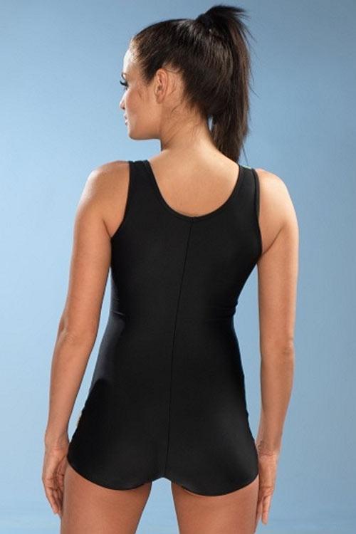 Sportovní jednodílné plavky Maryla1 s krátkou nohavičkou