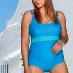 Dámské jednodílné plavky LORIN Hanna pro plnoštíhlé postavy