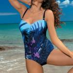 XXL jednodílné plavky s květinovým vzorem Marko Tetyana
