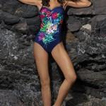 Jednodílné plavky pro silnější postavy Marko Estera Blueberry-Popstar