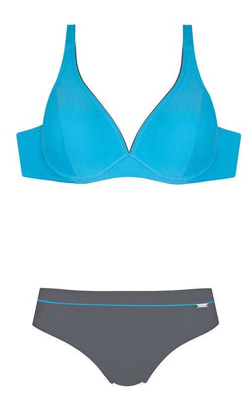 Dvoudílné plavky S230L - Self s polovyztuženými košíčky a kosticemi