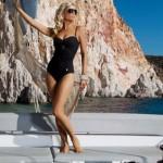 Dámské jednodílné plavky S900R - Self s odepínatelnými ramínky