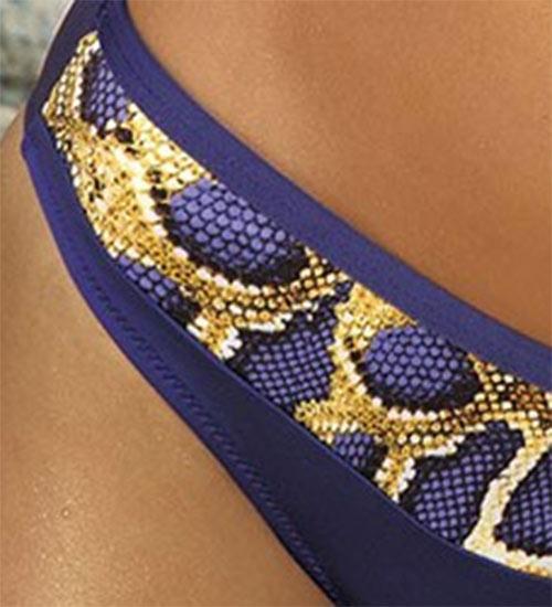 Plavky vzor hadí kůže