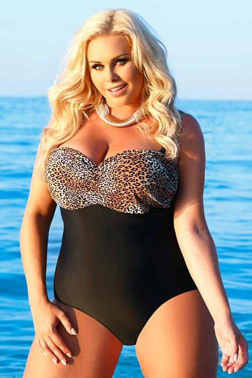 Jednodílné plavky Helen s tvarovanými košíčky pro větší prsa