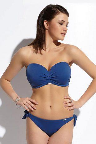 Bardot plavky Beach Jeans pro větší ňadra s odepínatelnými ramínky