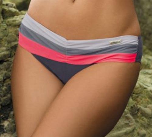 Pruhované dámské italské plavky
