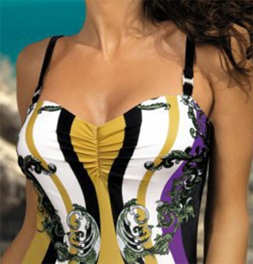 Jendodílné dámské italské plavky
