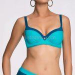 Dvoubarevné modré plavky pro silnější postavy Martinica
