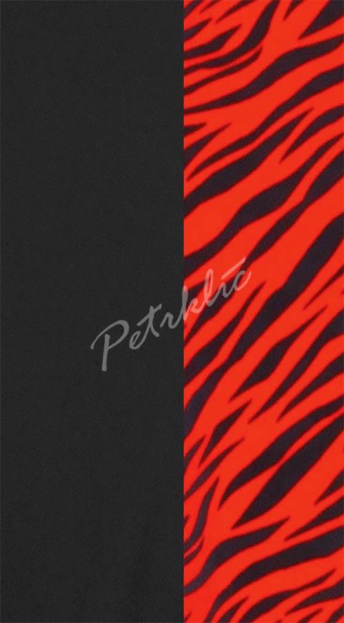 Červeno-černé dámské jednodílné plavky