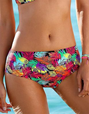 Maxi plavkové kalhotky s pestrobarevným potiskem