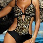 Leopardí monokiny s průstřihy Marko Shila