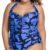 Dámské jednodílné plavky určené pro plnoštíhlé