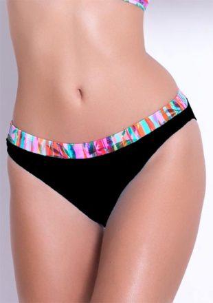 XXL plavkové kalhotky v elegantní černé barvě