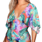 Jednodílné plavky s kimono rukávy