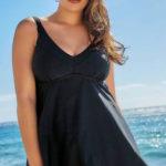 Černé plavkové šaty značky YOURS