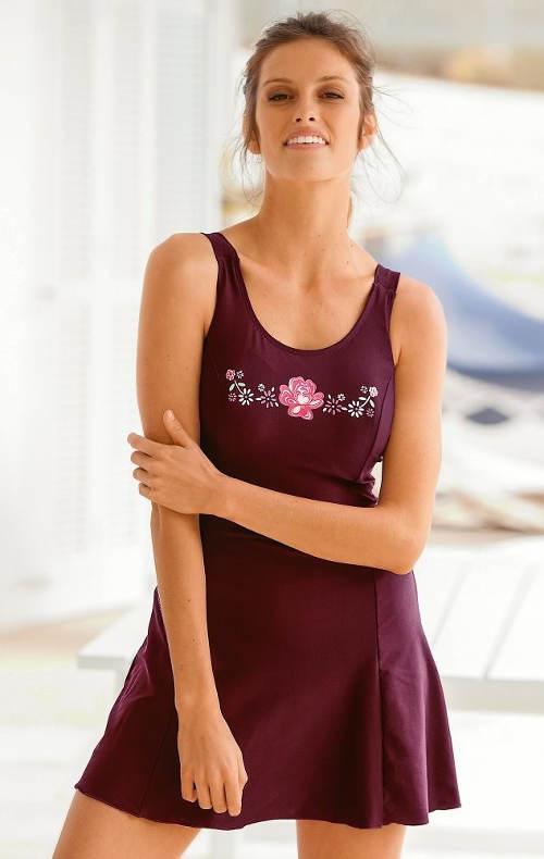 Jednodílné plavky se sukní. Plavkové šaty pro bobelky ... be07afb3ad