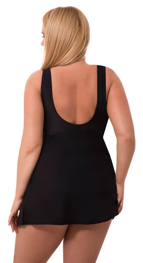 Plavkové šaty v černé barvě