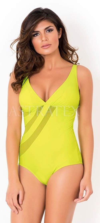 Žluté zeštíhlující dámské plavky