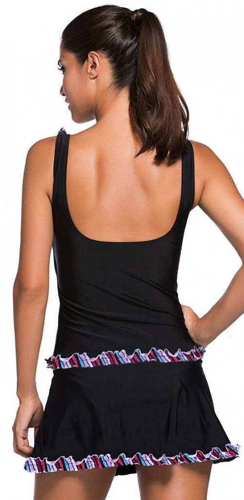 Černé dámské koupací šaty