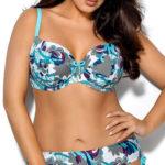 Dvoudílné dámské plavky s nastavitelnou výškou kalhotek