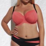 Růžová plavková podprsenka pro velká prsa Krisline Laguna