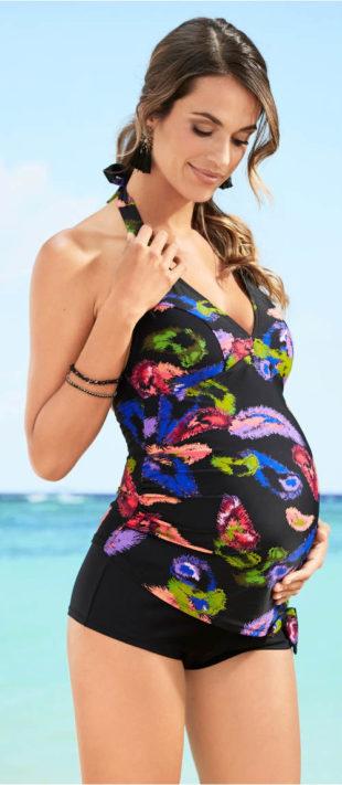 Těhotenské tankiny s podšívkou na hrudníku