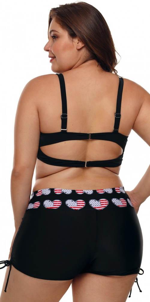 Nohavičkové dvoudílné plavky s regulací výšky kalhotek