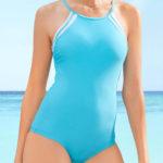 Levné sportovní jednodílné plavky pro plnoštíhlé 2019