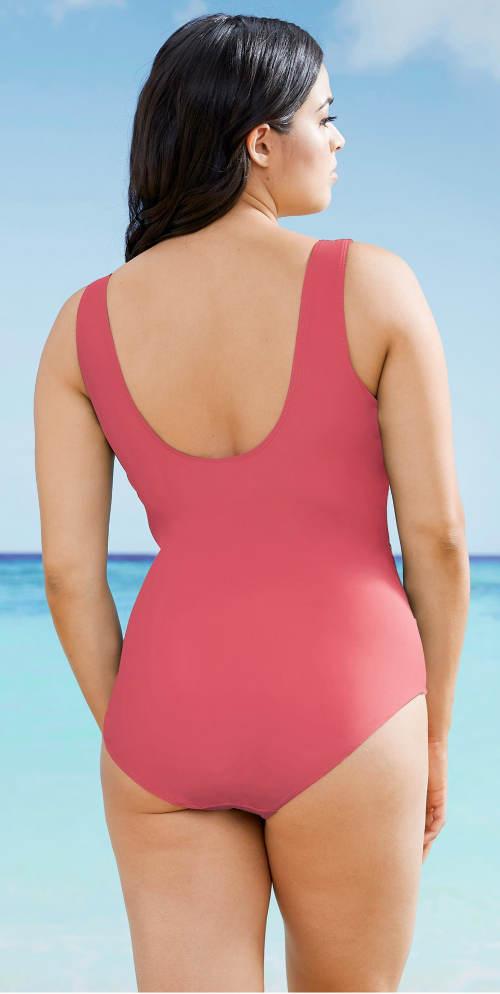 Losové dámské jednodílné plavky pro plnoštíhlé