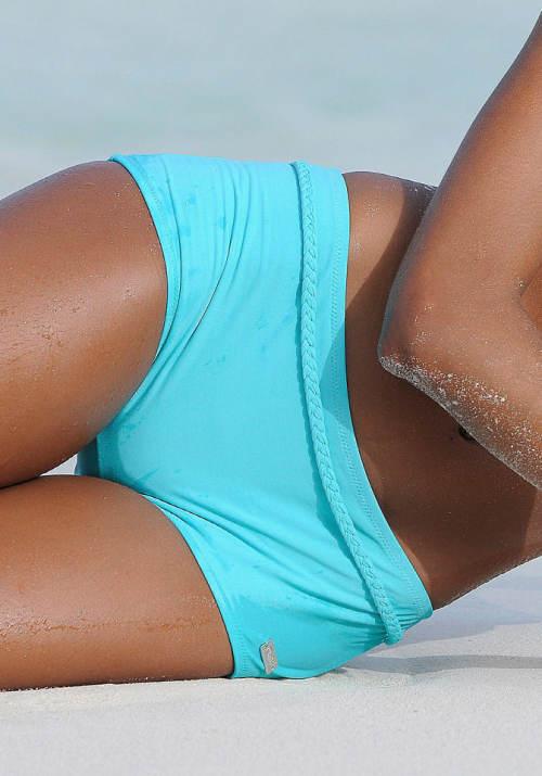 Tyrkysové dámské plavky boxerky