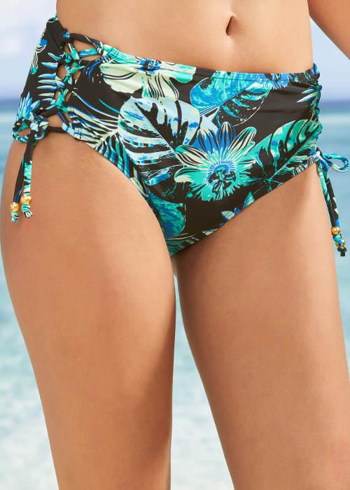 Vyšší květované plavkové kalhotky