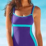 Jednodílné zeštíhlující dámské plavky s nohavičkami