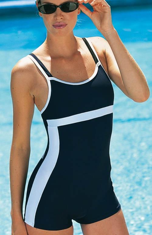 Nohavičkové dámské jednodílné plavky