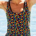 Tílkové jednodílné plavky s nohavičkami