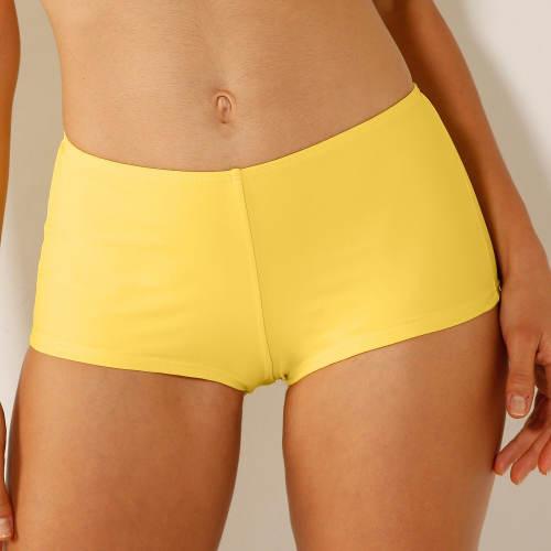Žluté dámské nohavičkové plavky