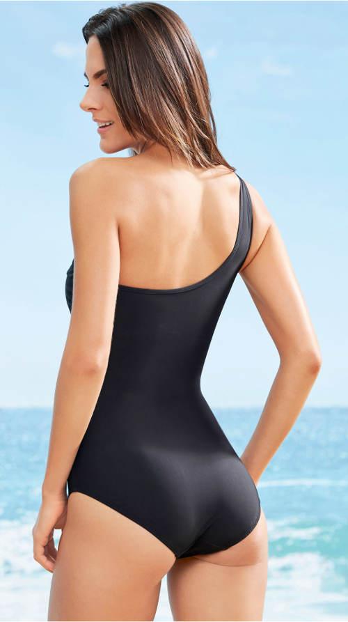 Plavky pro plnoštíhlé na jedno rameno