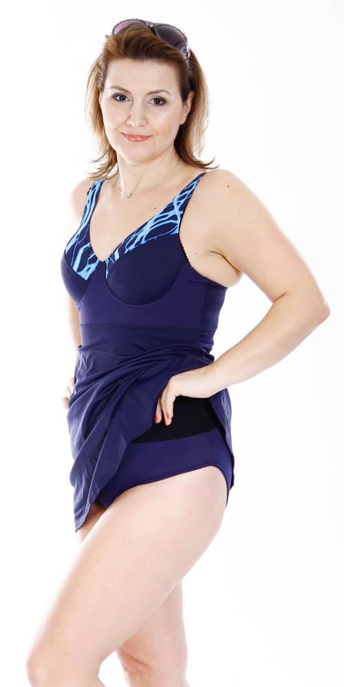 Sukňové jednodílné plavky s všitými kalhotkami