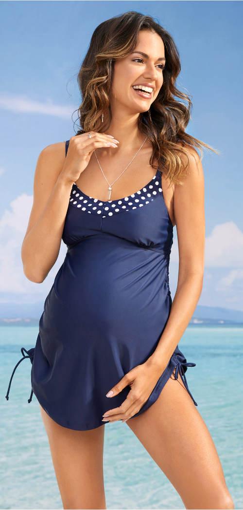 Těhotenské dámské plavky s náprsní podšívkou