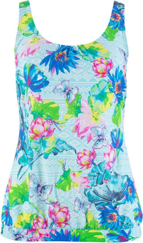 Květované dámské plavecké tílko