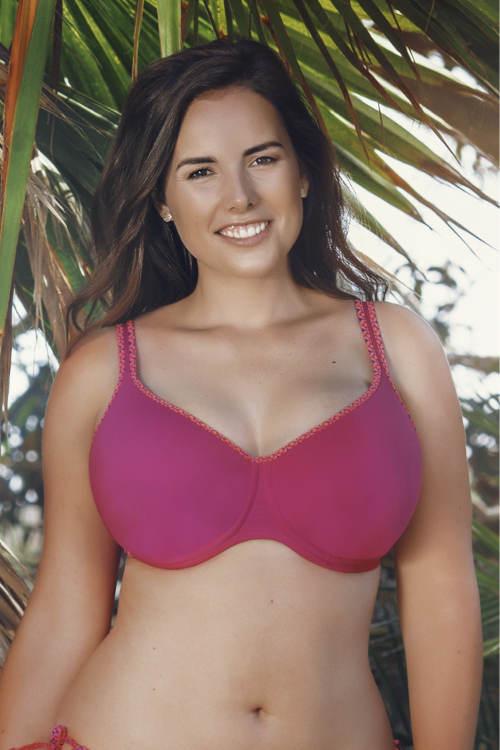 Plavky pro velká prsa s vyztuženými bezešvými koši