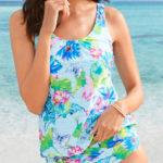 Těhotenský plavkový tankinový top