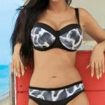 Dvoudílné plavky Imani ve zvířecím pro ženy plnějších tvarů