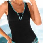 Jednodílné dámské plavky s integrovanými košíčky