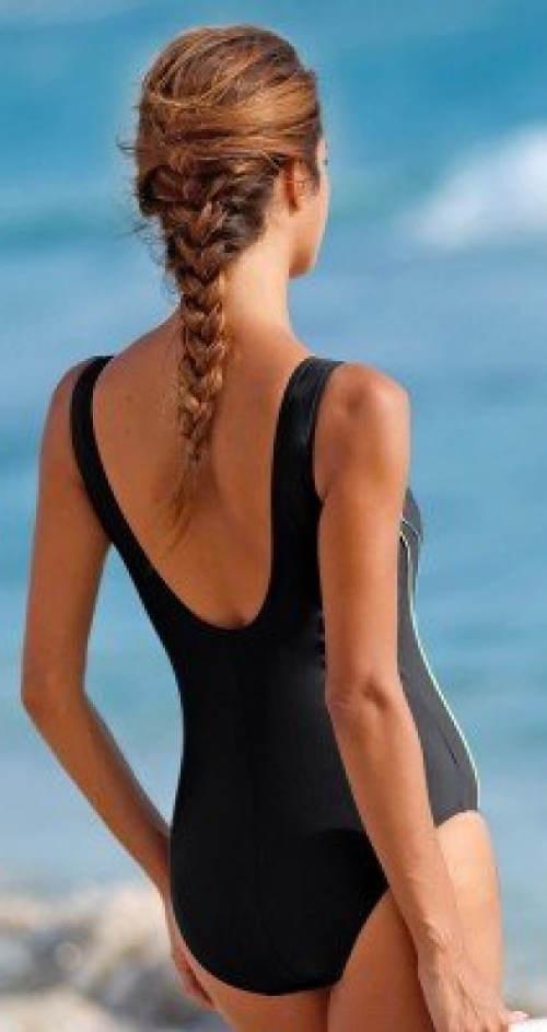 Jednodílné plavky s úpletovou podšívkou