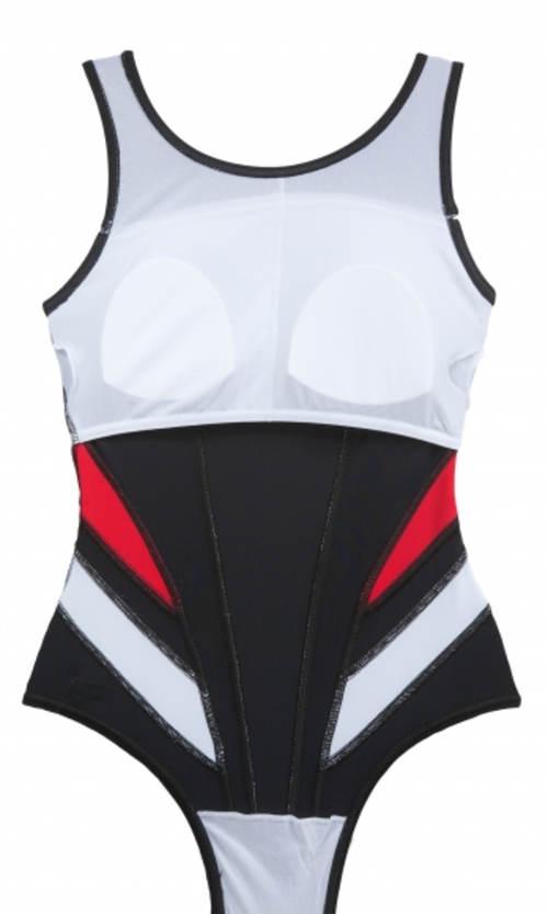 Jednodílné sportovní plavky s vyztuženými košíčky